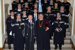 Ceremony of presenting VMFilippov with the Diploma of the Honorary Doctor of the University of Cluj - Napoca. Romania