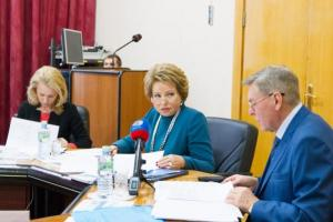 With the Chairman of the Federation Council of the Federal Assembly of the Russian Federation V.I. Matviyenko